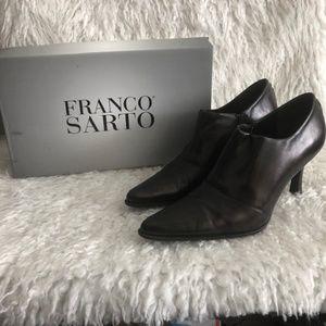 Franco Sarto Brown Ankle Pointed Toe Heel SZ 8.5 M